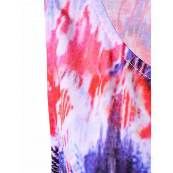 Tie Dye Asymmetric Plus Size Tank Top - COLORMIX COLORMIX