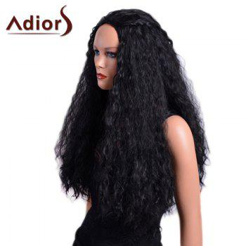 Adiors Long Curled Fluffy Capless Synthetic Wig -  BLACK