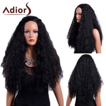 Adiors Long Curled Fluffy Capless Synthetic Wig - BLACK BLACK