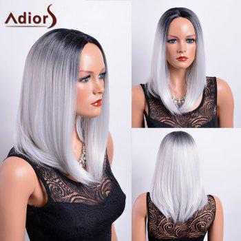 Adiors Long Gradient Centre Parting Dark Root Bob Synthetic Wig