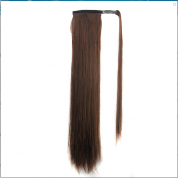Stylish Long Straight Charming Dark Brown Heat Resistant Synthetic Women's Ponytail