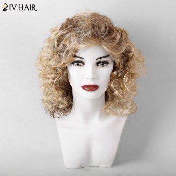 Siv Hair Medium Curled Hairstyle Shaggy Capless Human Hair Wig