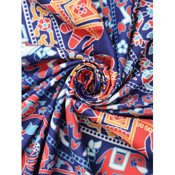 Rectangle Tribal Elephant Print Beach Throw - COLORMIX COLORMIX
