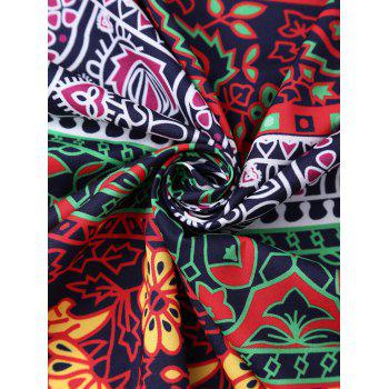 Rectangle Floral Tribal Print Beach Cover Throw - COLORMIX COLORMIX