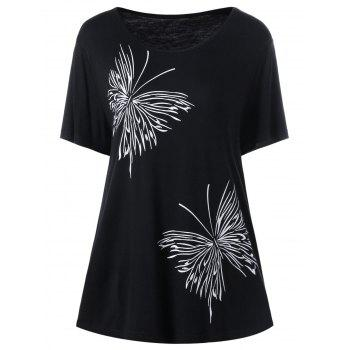 Plus Size Butterfly Graphic T-Shirt