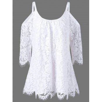 Dew Shoulder Lace Blouse