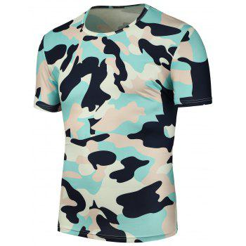 Camouflage Print T Shirt - CAMOUFLAGE CAMOUFLAGE