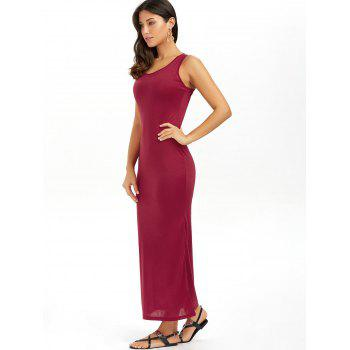 Racerback Summer Casual Summer Maxi Dress - RED RED