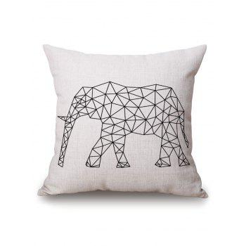 Elephant Geometric Printed Pillow Case