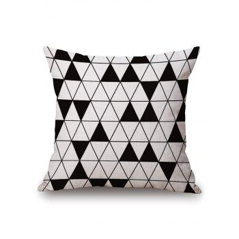 Geometric Triangle Printed Pillow Case
