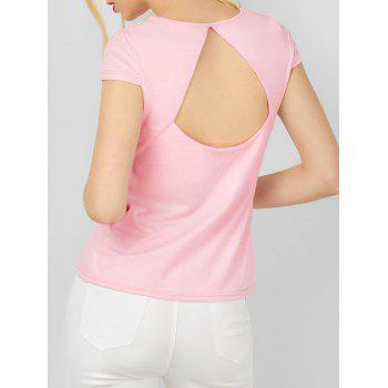 Cut Out Cap Sleeve Tee