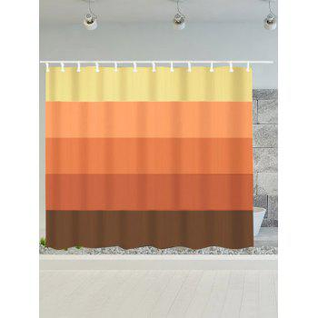 Gradient Stripe Waterproof Bath Decor Shower Curtain