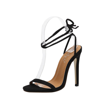 Mini Heel Lace Up Sandals