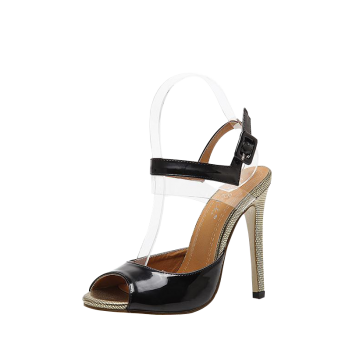 Peep Toe Transparent Plastic Sandals