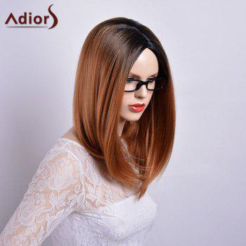 Adiors Long Straight Centre Parting Gradient Dark Root Bob Synthetic Wig - COLORMIX