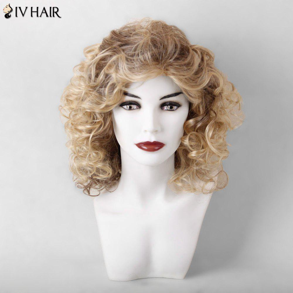 Siv Hair Medium Curled Hairstyle Shaggy Capless Human Hair Wig - COLORMIX