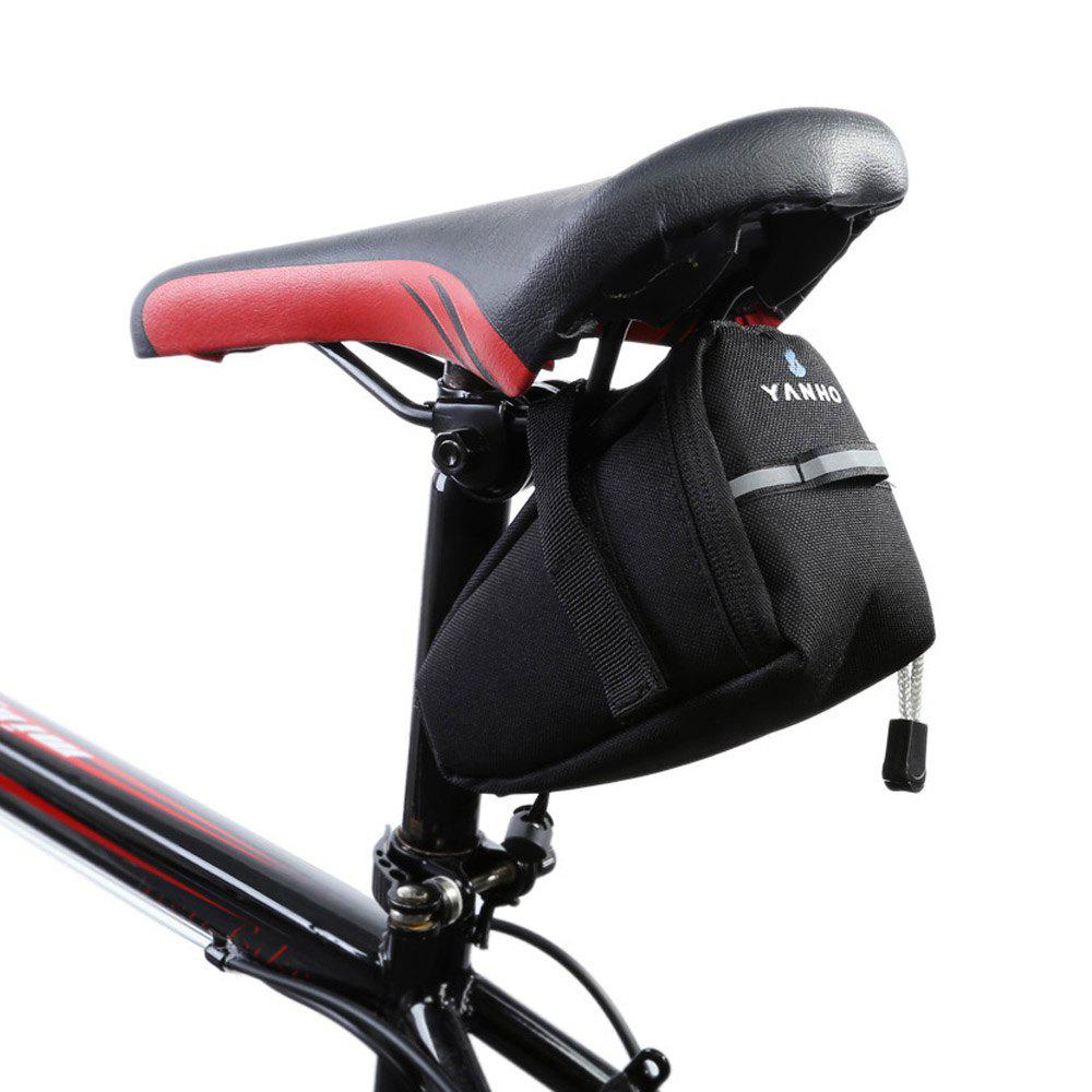 Water Resistant Bicycle Saddle Bag - BLACK