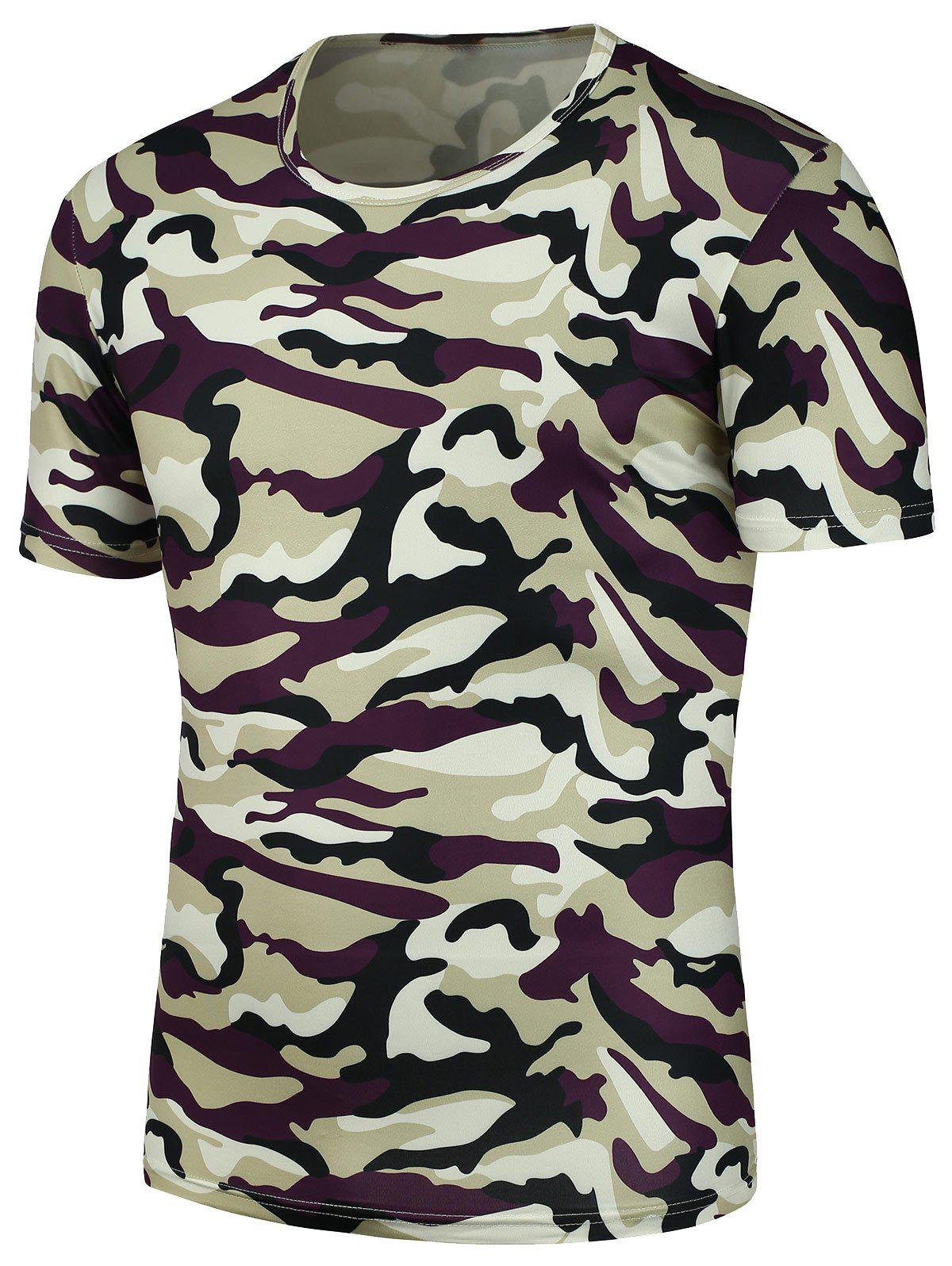 Camouflage Print Tee - CAMOUFLAGE XL