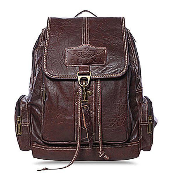 Preppy Hasp and String Design Satchel For Women - COFFEE