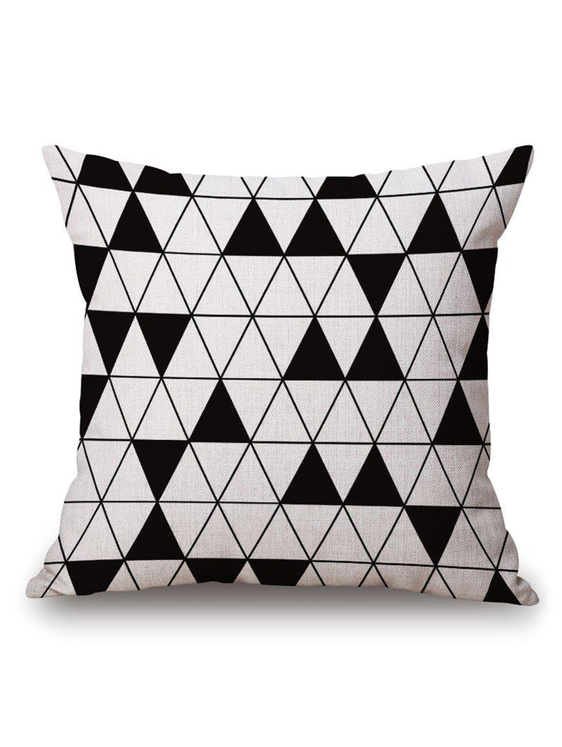 Geometric Triangle Printed Pillow Case handpainted birds and leaf branch printed pillow case