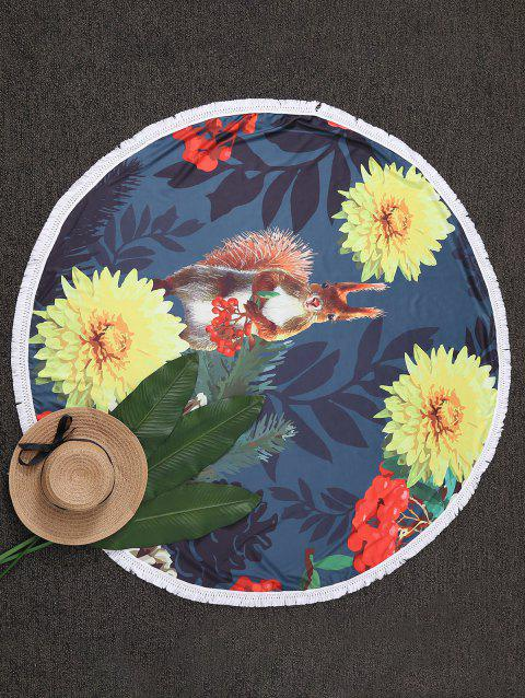 Throw Tassel Floral Cercle Plage - multicolore ONE SIZE