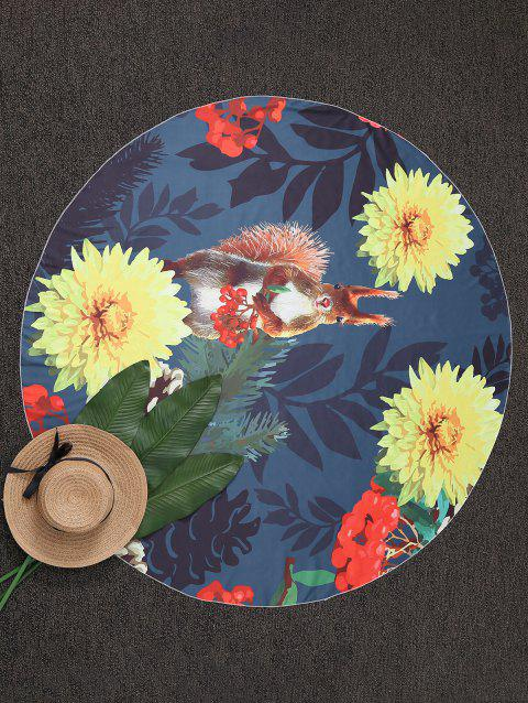 Throw Round Floral Plage - multicolore ONE SIZE