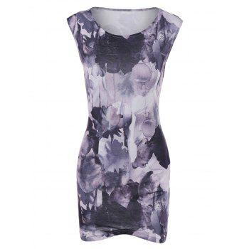 Mini Bodycon Dress With Wash Painting