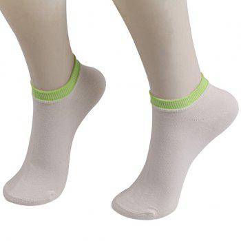 Knitting Breathable Ankle Socks - WHITE WHITE