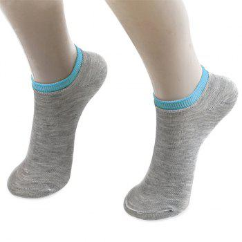Knitting Breathable Ankle Socks - GRAY GRAY