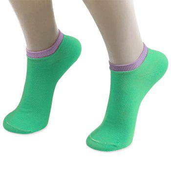 Knitting Breathable Ankle Socks -  GREEN