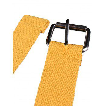 Round Grommet Casual Canvas Belt -  YELLOW