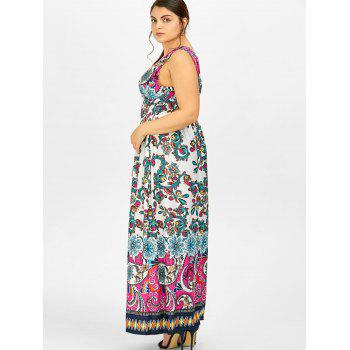 Print Maxi Plus Size Dress - WHITE WHITE