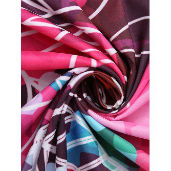 Tassel Round Shape Floral Beach Throw - COLORMIX ONE SIZE