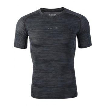 Space Dye Raglan Sleeve Gym T-Shirt