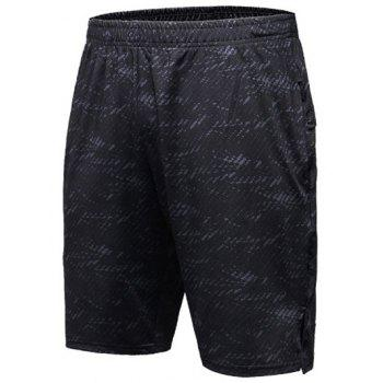 Heather Elastic Waist Gym Shorts