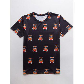 Cartoon Print Crew Neck T-Shirt