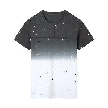 Bleach Splatter Dip Dye T-Shirt