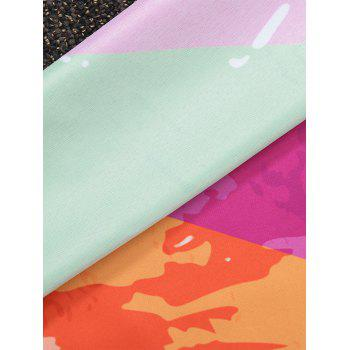Round Color Block Beach Throw - COLORMIX COLORMIX