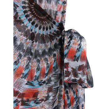 Tie Side Overlap Wrap Cover-ups - multicolorcolore M