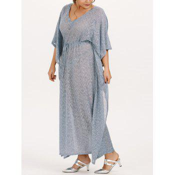 Batwing Maxi Cape Plus Size Dress