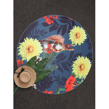 Round Floral Beach Throw - COLORMIX COLORMIX