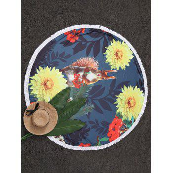 Tassel Floral Circle Beach Throw - COLORMIX COLORMIX
