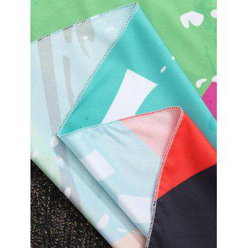 Round Color Block Beach Throw - COLORMIX ONE SIZE