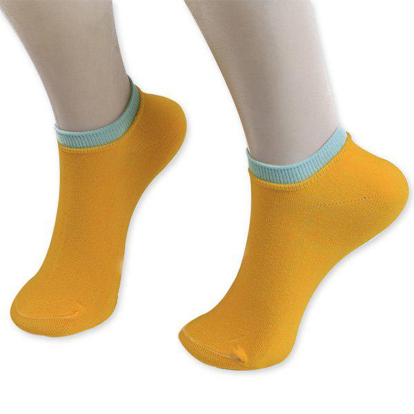 Knitting Breathable Ankle Socks - ORANGE YELLOW