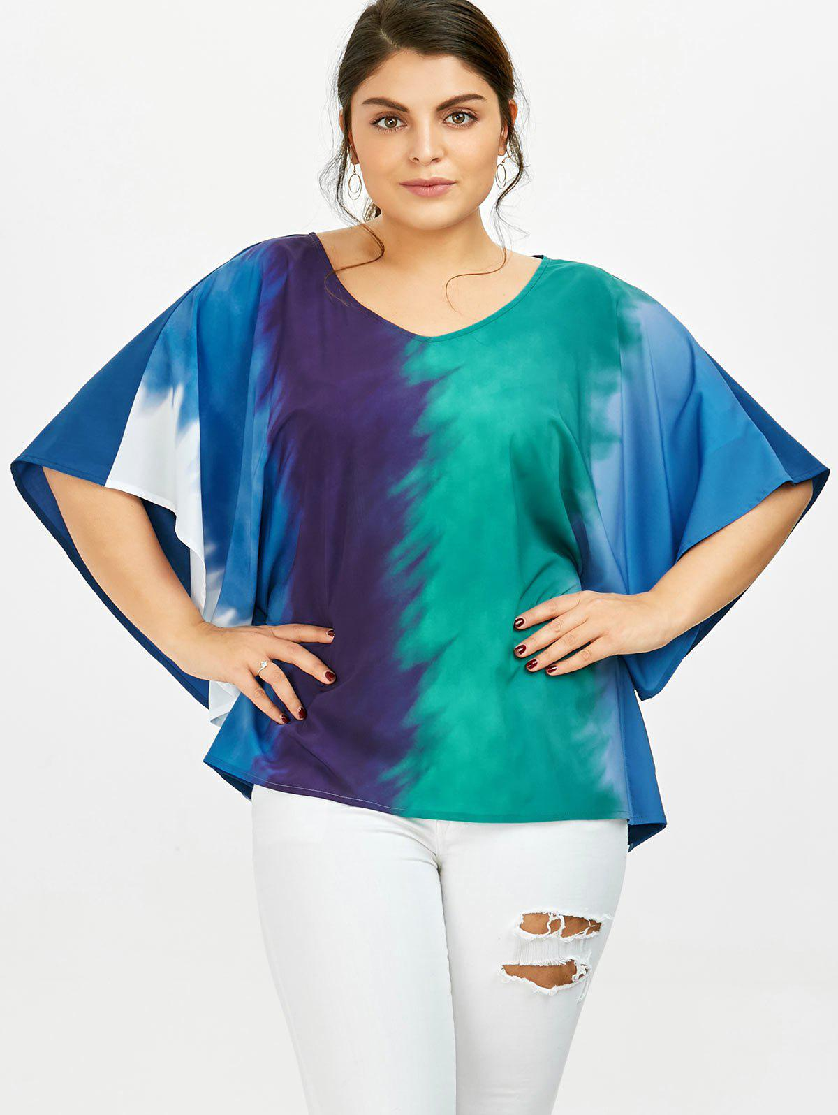 T-shirt à manches papillon coloré - multicolorcolore 3XL