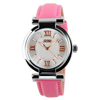SKMEI Faux Leather Quartz Watch