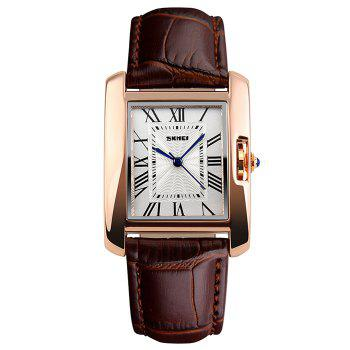 SKMEI Fuax Leather Square Watch