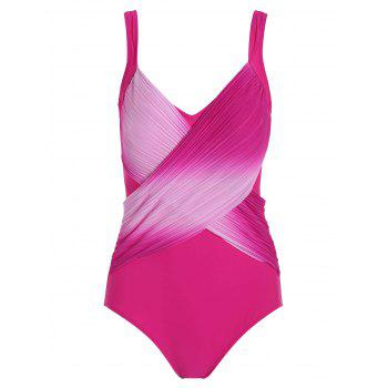 Ombre Retro Plus Size One Piece Swimwear