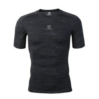 Skinny Crew Neck Heather Gym Tee