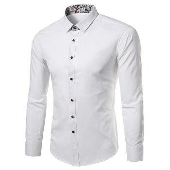 Paisley Edging Long Sleeve Shirt